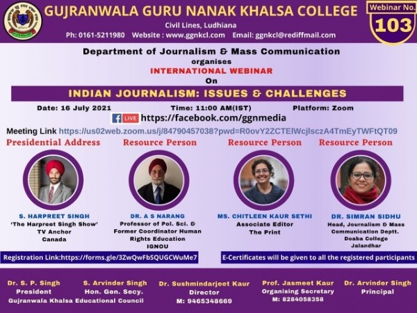 Indian Journalism: Issues and Challenges