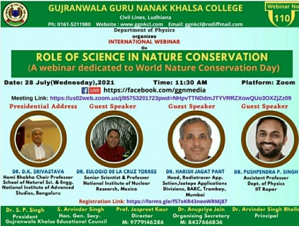 Role of Science in Nature conservation