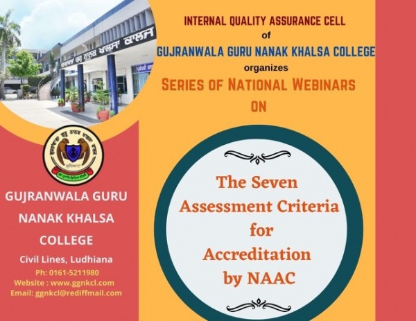 The Seven Assessment Criteria for Accreditation by NAAC