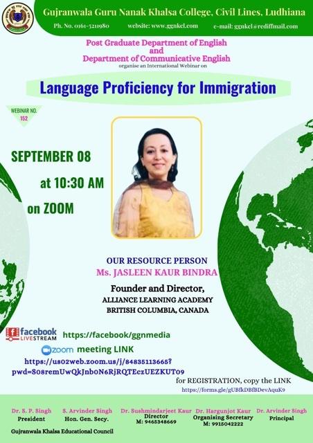 Language Proficiency for Immigration