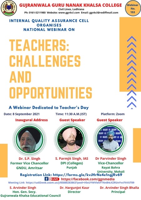 Teachers: Challenges and opportunities