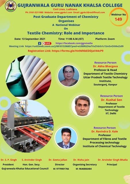 Textile Chemistry : Role and Importance