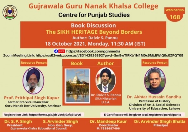 Book discussion:The sikh heritage beyond borders